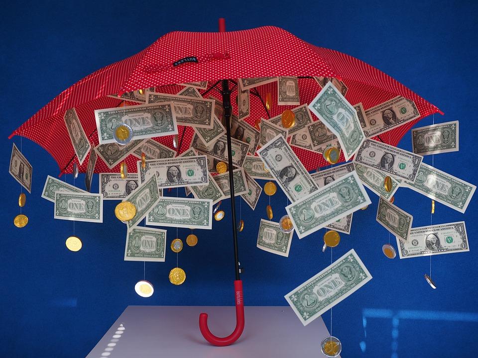 Dárek, Peníze Déšť, Dolar Déšť, Deštník