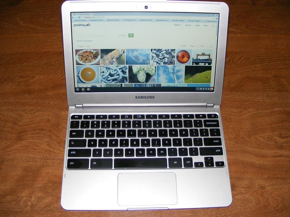 Chromebookの, ノートブック, サムスン, ラップトップ, コンピュータ, ディスプレイ
