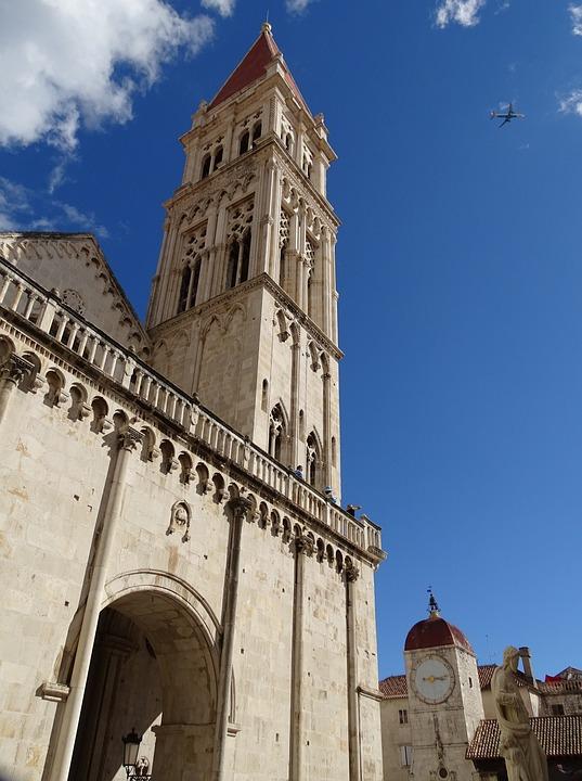 Steeple, Trogir, Croatia, Unesco, Church, Europe