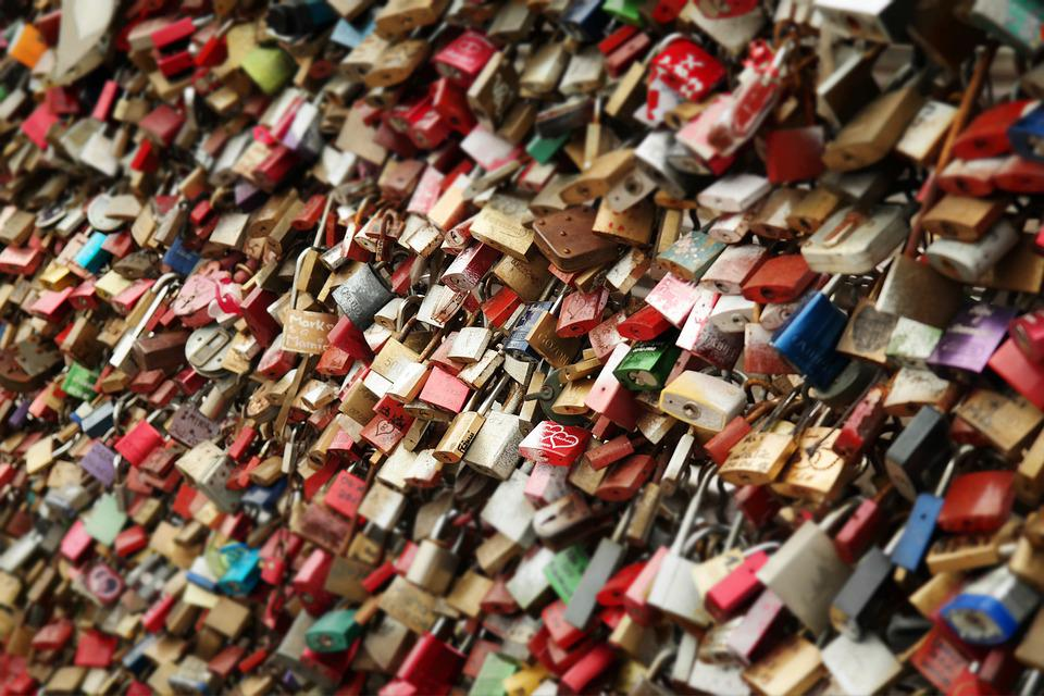 Locks, Padlocks, Love Locks, Love, Symbol, Landmark