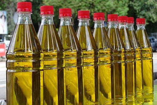 Olive Oil, Market, Oil, Food, Filled