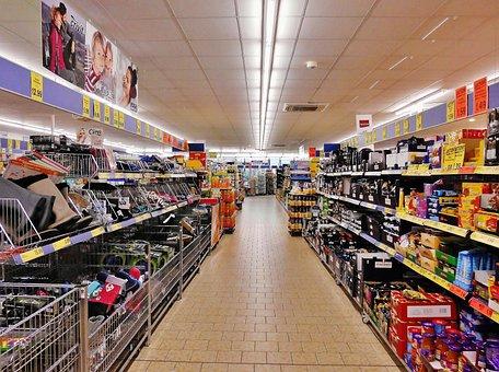 スーパー マーケット, 棚, ショッピング, 堂々と道, 市場の棚, 購入市場