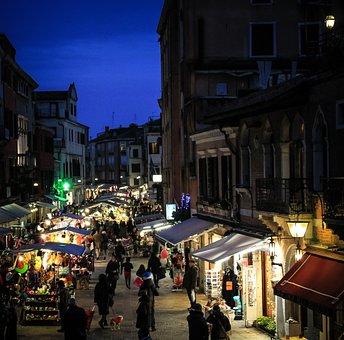 Venice, Fair, Italy, In The Evening
