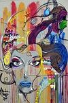 graffiti, fresk, sztuka ulicy