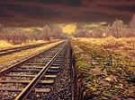 railway, landscape, transportation