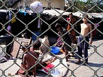 slum, india, wire