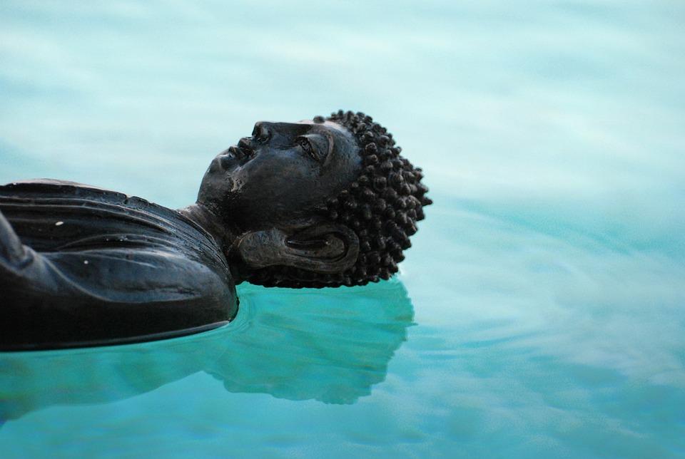 Buda, Zen, Reflejo, Brillo, Aura, Paz, Meditación, Yoga