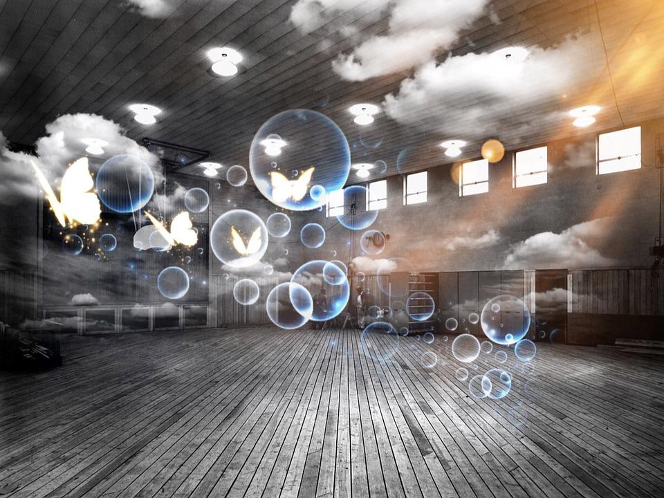 Free Photo Sports Hall Soap Bubbles Surreal Free