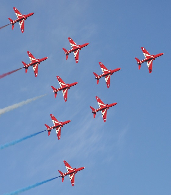 free photo  red arrows  aircraft  aviation