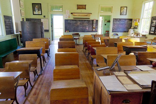 Classroom, Old, One-Room, School