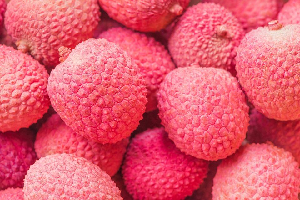 pink fruit litchi fruit