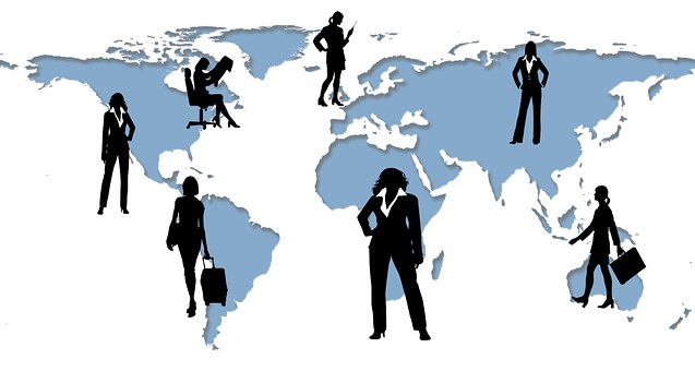 Führungskraft, Geschäftsfrau, Welt