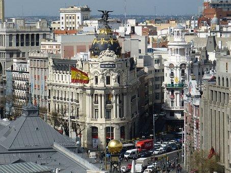 Vista de la ciudad Madrid