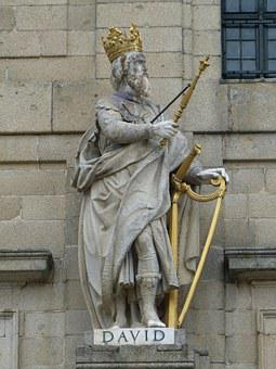 Figure, King, David, King David, Harp, sin