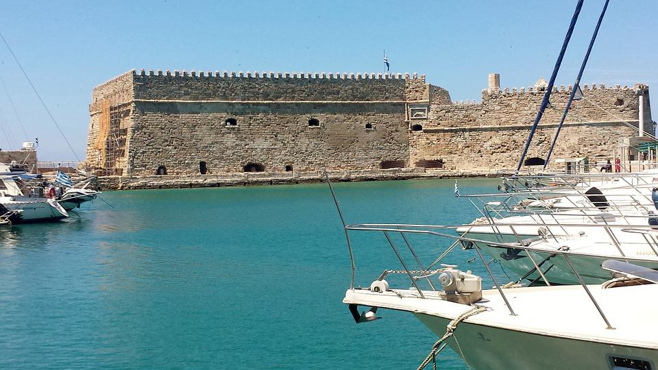 Free photo heraklion port castle free image on for Design boutique hotel kreta