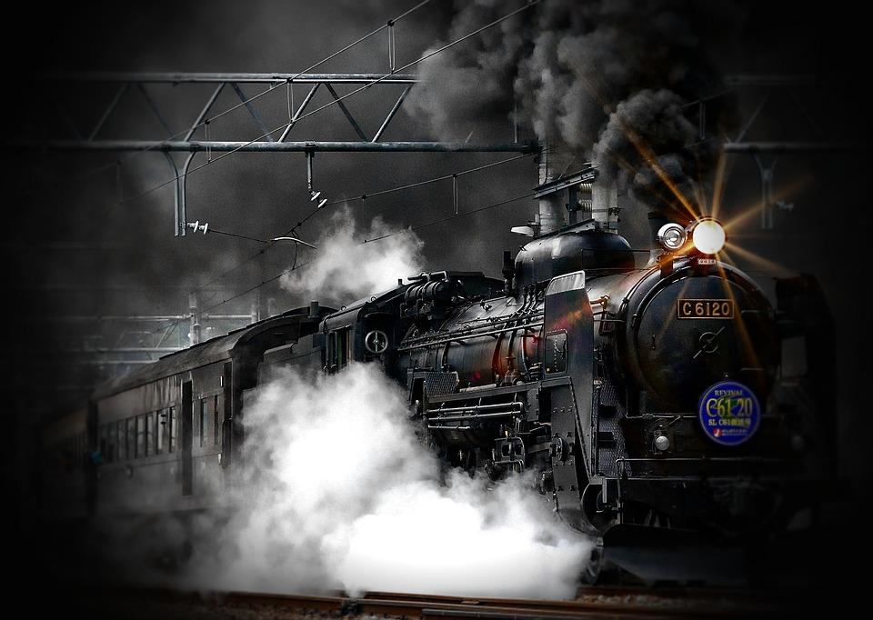 Treno A Vapore, Locomotiva, Antica, Treno, Vecchio