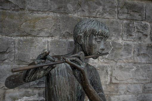 Flûte, La Musique, Art, Statue