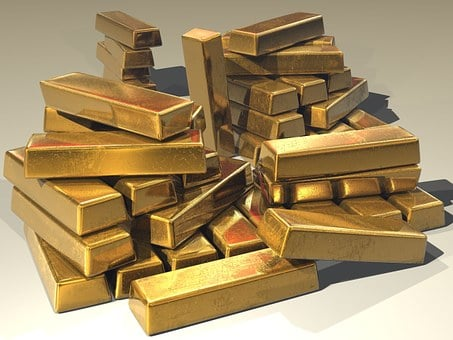 Gold, Ingots, Golden, Treasure, Bullion