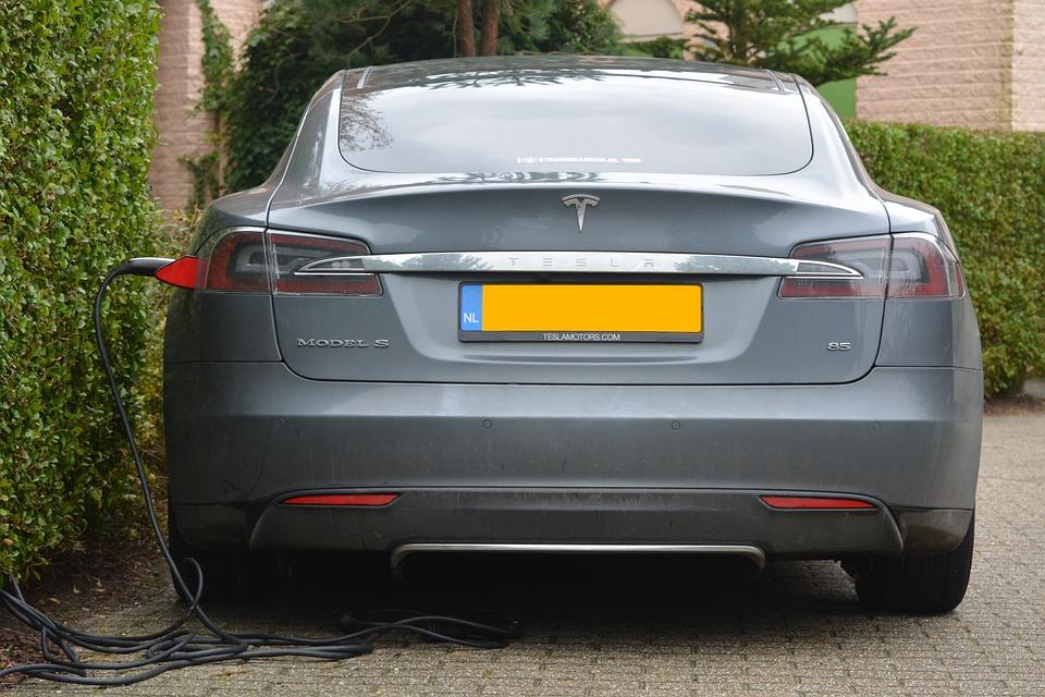 电动汽车, 汽车, 充电, 那里变 变的, 泰斯拉