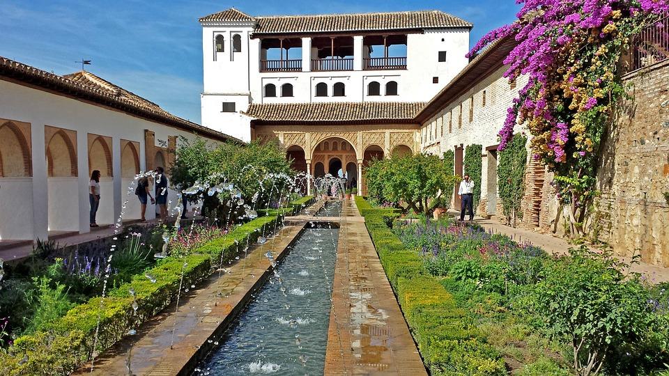 Alhambra granada generalife kostenloses foto auf pixabay for Jardin hispano mauresque