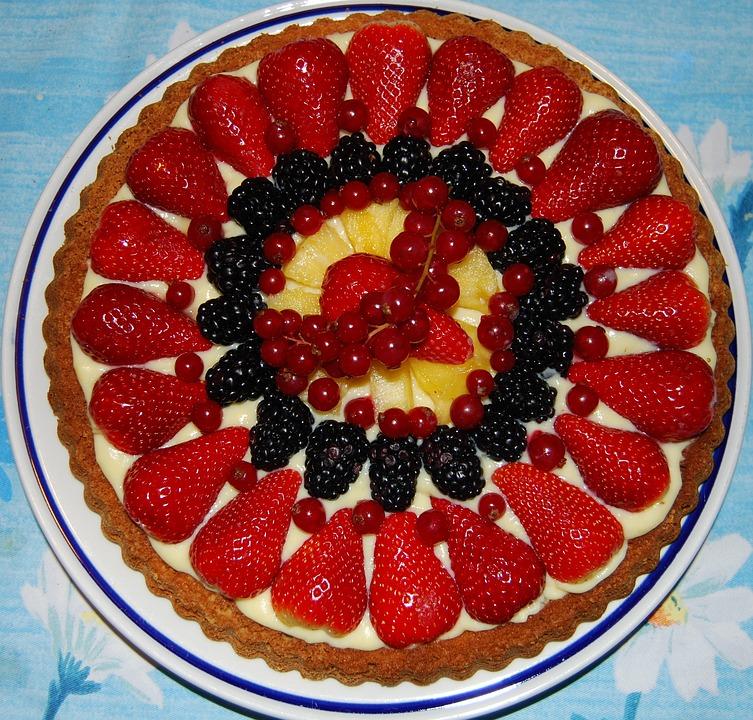 Kuchen Obst Erdbeere Kostenloses Foto Auf Pixabay