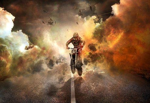 Off Road Buggy, Motorcycle, Jump, Bike