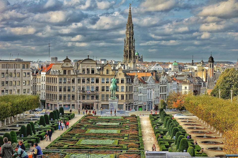 Брюссель, Плаза, Город, Бельгия, Hdr