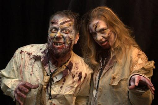 Man Woman Zombies Zombie Couple Halloween