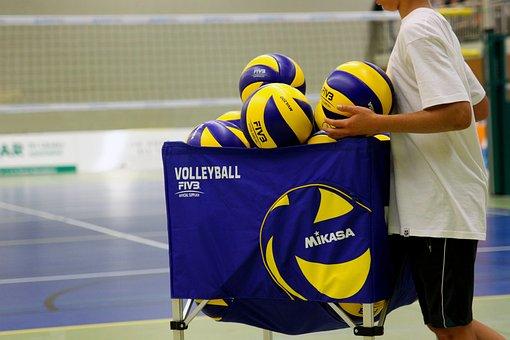 Volleyball, Sport, Ball, Volley