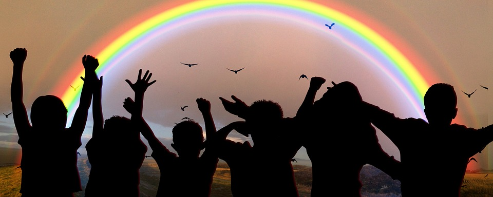 World Children'S Day, Festival, Celebrate, Rainbow