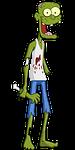 zombie, brain, halloween