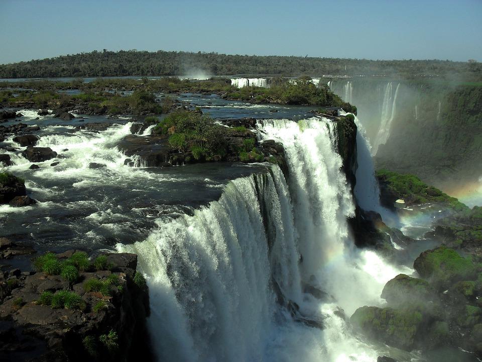 Foz Do Iguaçu, Água, Cataratas, Brasil, Natureza