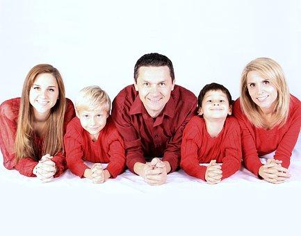 Familia Kids Feliz Personas Madre Padre Ni