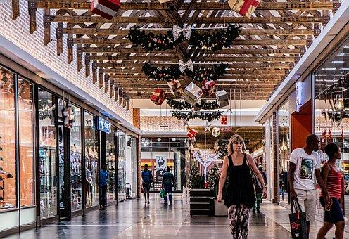 Shopping Mall, Woman, Shopping, Store