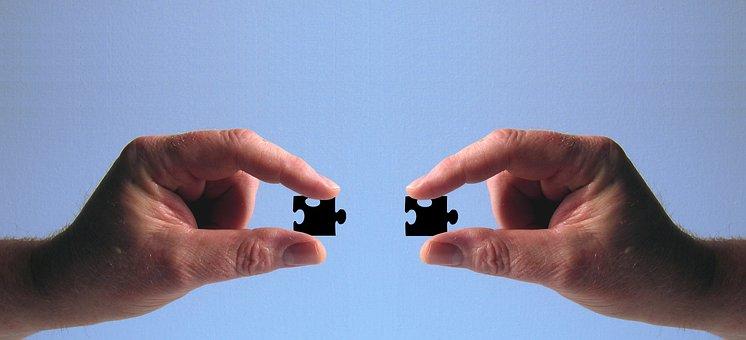 Mão Manter Puzzle Dedo Concordar Inserir L