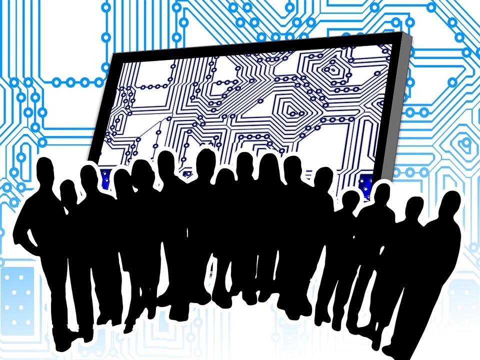 free illustration  team  computer science  group  man