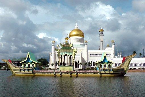 Ship Junk Mosque Saifuddin Brunei Brunei B