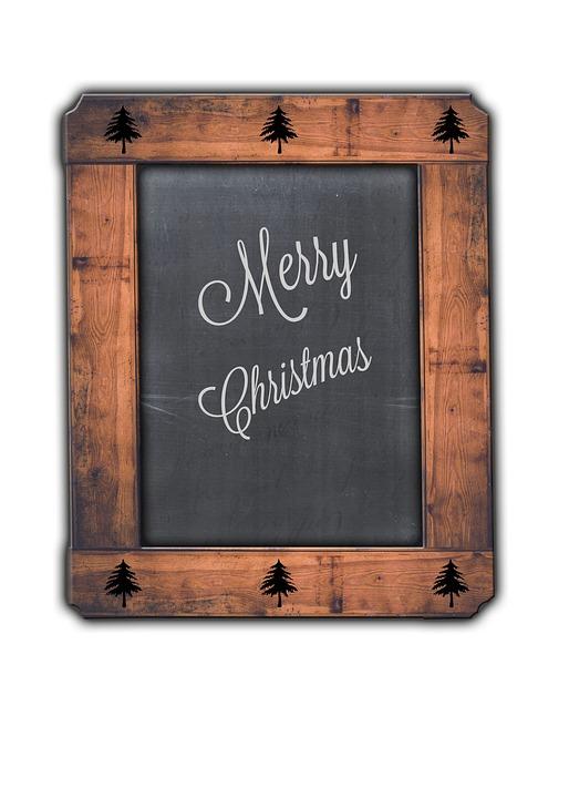 Merry Christmas Blackboard Rustic Chalk Vintage