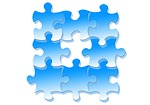 puzzle, share, togetherness