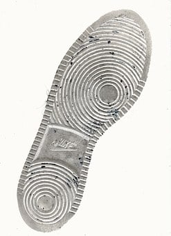 靴, 唯一の, バッチ印刷, フット プリント, ナイキ, 救済, プロファイル