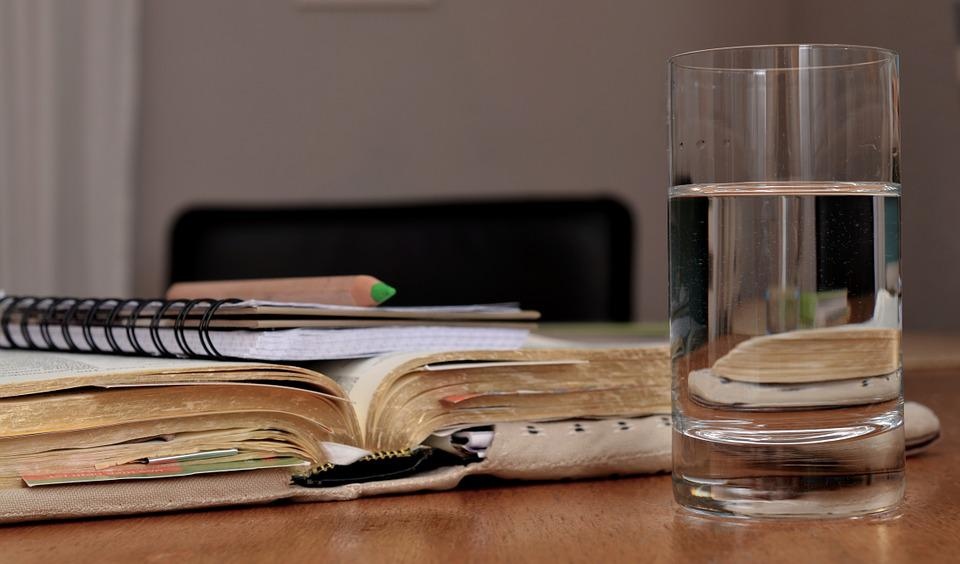 Learn, Study, Read, Accounting, Glass, Water, Bible