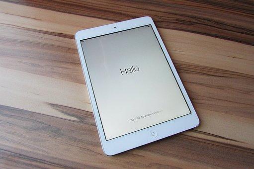 電子ブック, Ipad のミニ, アップル, タブレット, 計算されました
