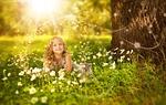 dziewczyna, ładny, natura