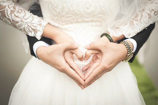 Heart, Wedding, Marriage, Hands