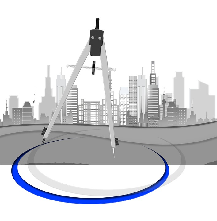 Kostenlose illustration architekt zirkel planung for Architekt planung