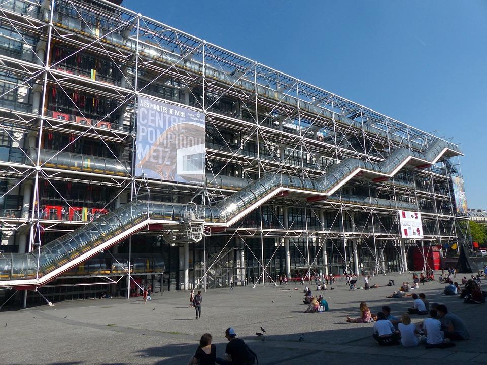 Free photo center pompidou paris art free image on for Art minimal centre pompidou