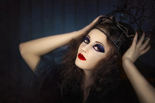 Woman, Girl, Halloween, Crown, The Witch