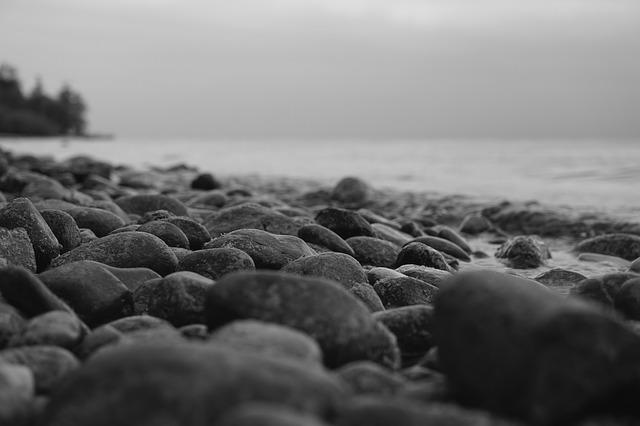 Free Photo Stones Beach Black And White Free Image On
