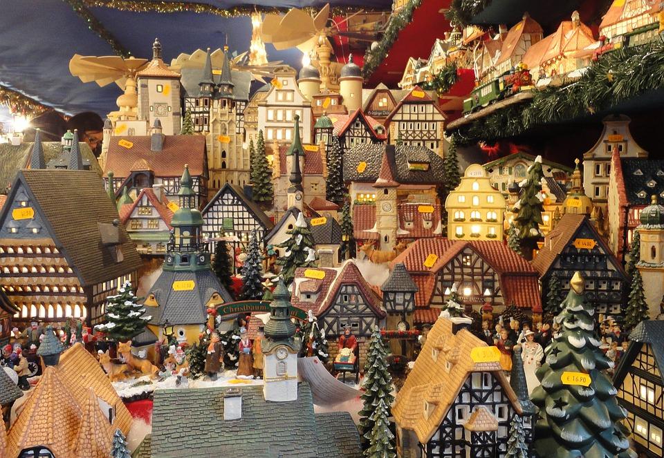 Marché De Noël, Noël, Stand De Vente, Maisons, Cottage