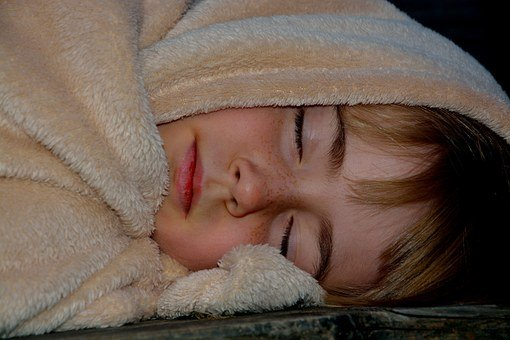 Sleep, Child, Girl, Blanket, Sleeping